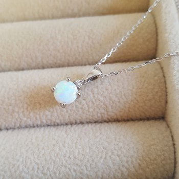October Opal Pendant