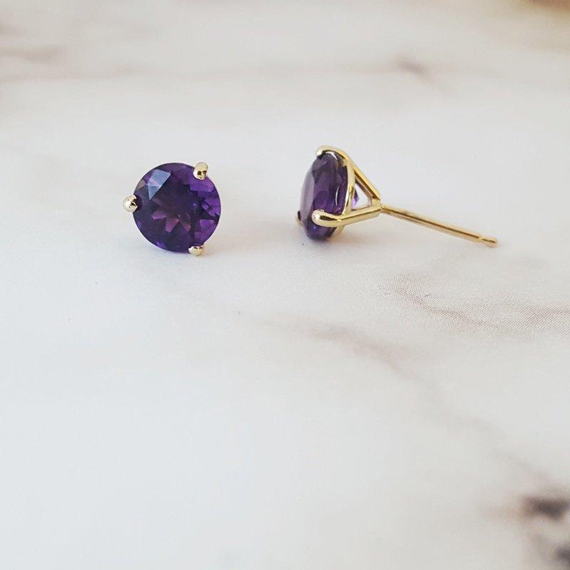 Arizona Amethyst™ Gold Jewelry Essential 1 1/2CT Studs