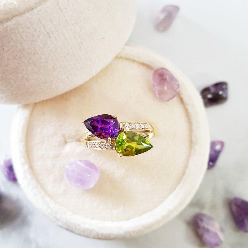 Arizona Amethyst™ Gold Jewelry Perfect Pear Ring