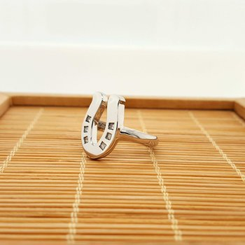 14K Diamond Sliding Shoe Ring
