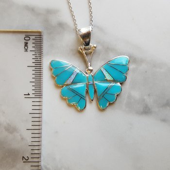 Butterfly Turquoise Pendant