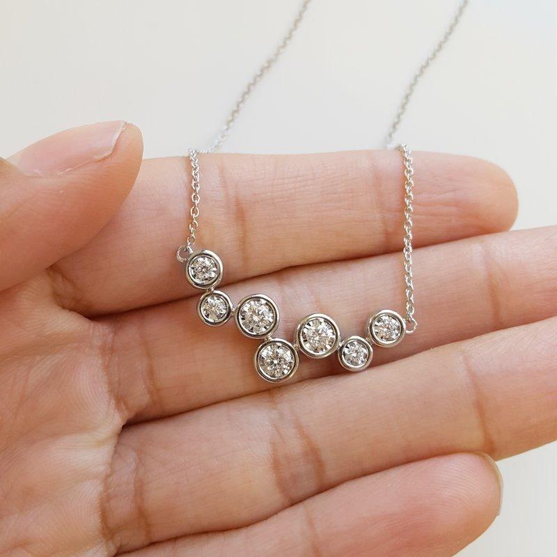 Sami Fine Jewelry Bubble Bezel Diamond Necklace
