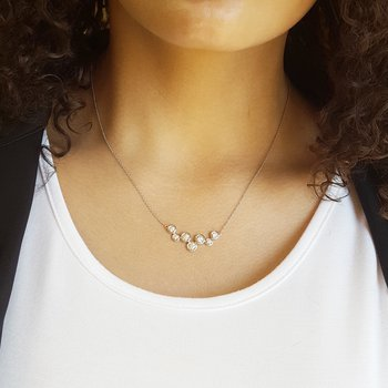 Bubble Bezel Diamond Necklace
