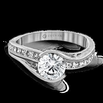 Caress Bezel Engagement Ring
