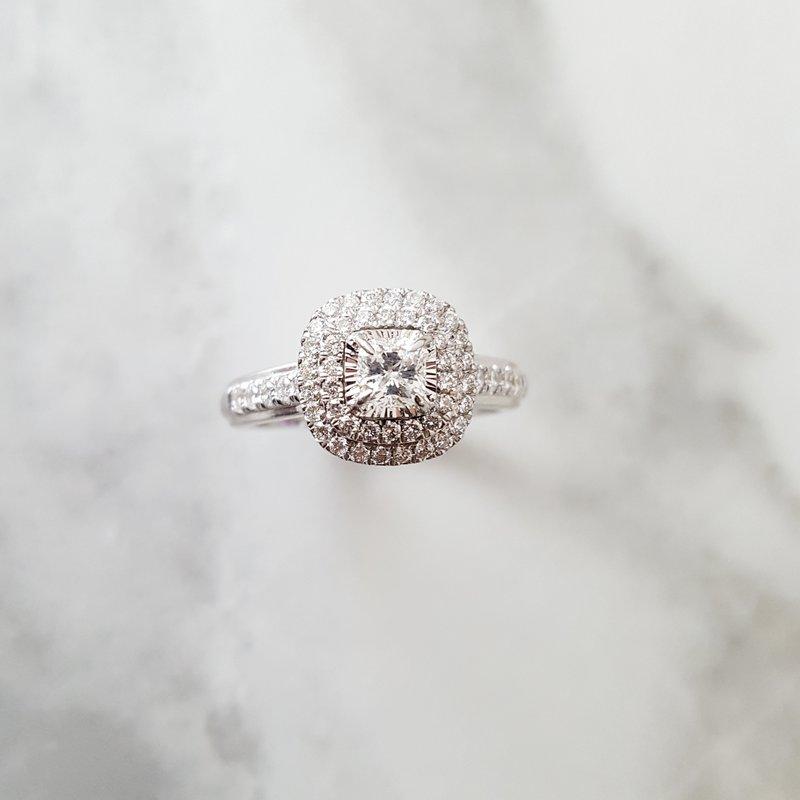 Sami Fine Jewelry Halo Diamond Ring