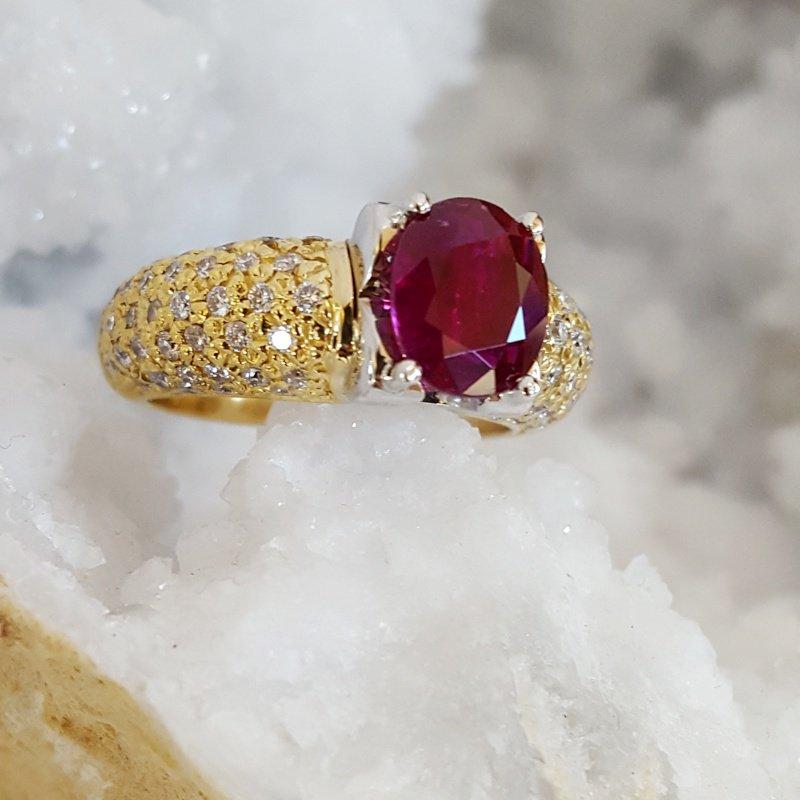 Luxury by Rene Hernandez Burma Ruby Ring