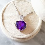 Arizona Amethyst™ Gold Jewelry Unique Trillion Cut Arizona Amethyst Pendant