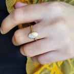 Sami Fine Jewelry Brushed Gold Geometric Ring