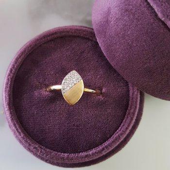 Brushed Gold Geometric Ring