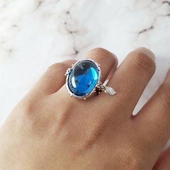 Blue Topaz Royalty Ring