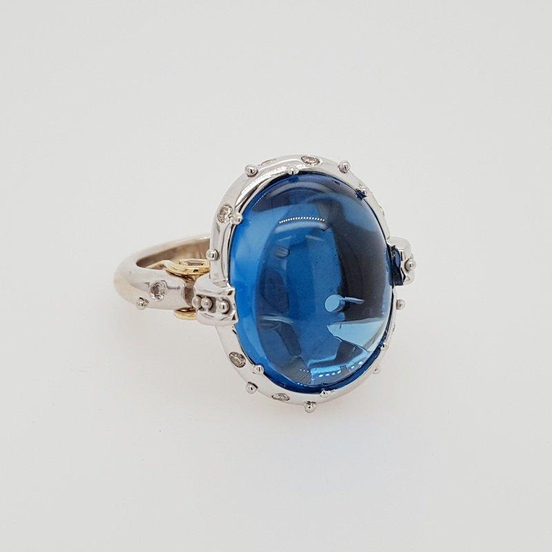 Luxury by Rene Hernandez Blue Topaz Royalty Ring