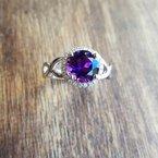 Arizona Amethyst™ Gold Jewelry Halo Round Arizona Amethyst Ring