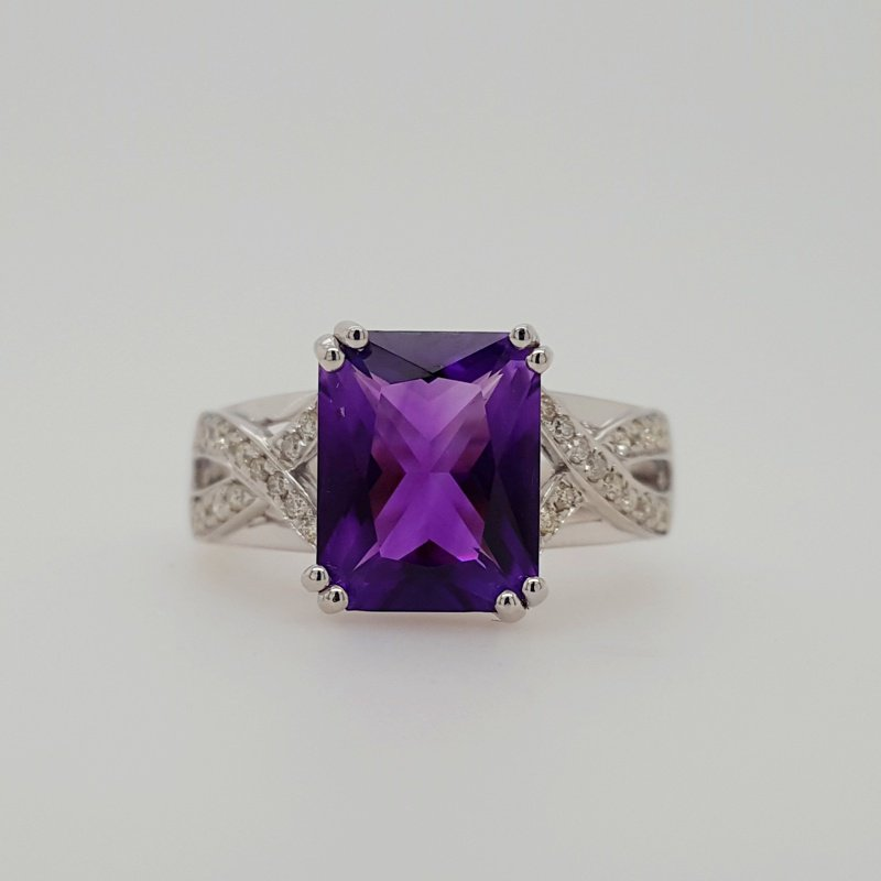 Arizona Amethyst™ Gold Jewelry Amethyst Criss-Cross Ring