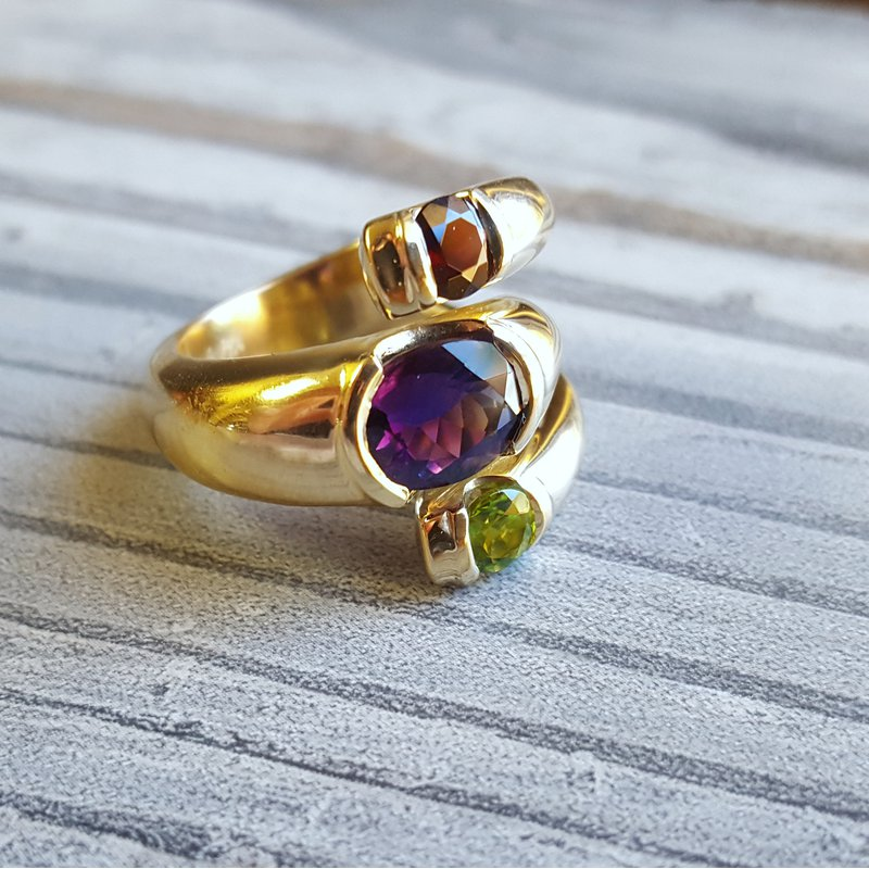 American Gem Collection™ Along the Path 3-Stone Ring