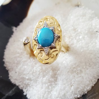 Open Turquoise Ring