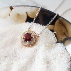 Arizona Anthill Garnet Gold Jewelry Floral Inspired Pendant