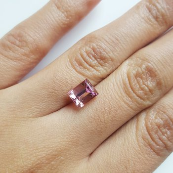 Emerald Cut Pink Tourmaline