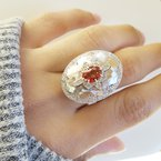 Luxury by Rene Hernandez Orange Spinel Ring