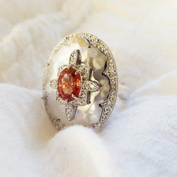 Orange Spinel Ring