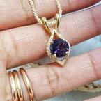 Arizona Amethyst™ Gold Jewelry Amethyst Medallion Necklace