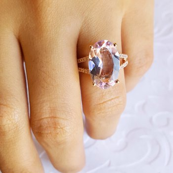 French Style Amethyst Ring