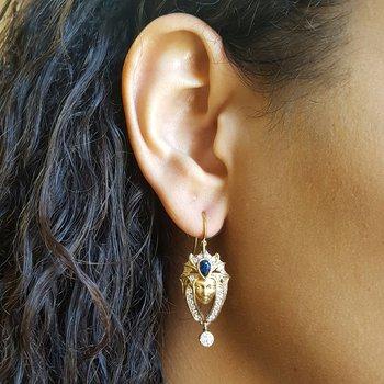 Egyptian Goddess Face Earrings