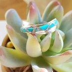 Arizona Turquoise and Inlaid Jewelry Criss Cross Turquoise Ring
