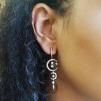 Sami Fine Jewelry Moon and Stars Earrings