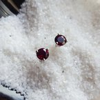 Arizona Anthill Garnet Silver Jewelry Garnet Martini Stud Earring