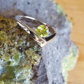 Peridot Freeform Ring