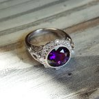 Arizona Amethyst™ Gold Jewelry Vintage Inspired Amethyst Ring