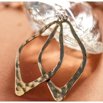 Brass Open Up Earrings