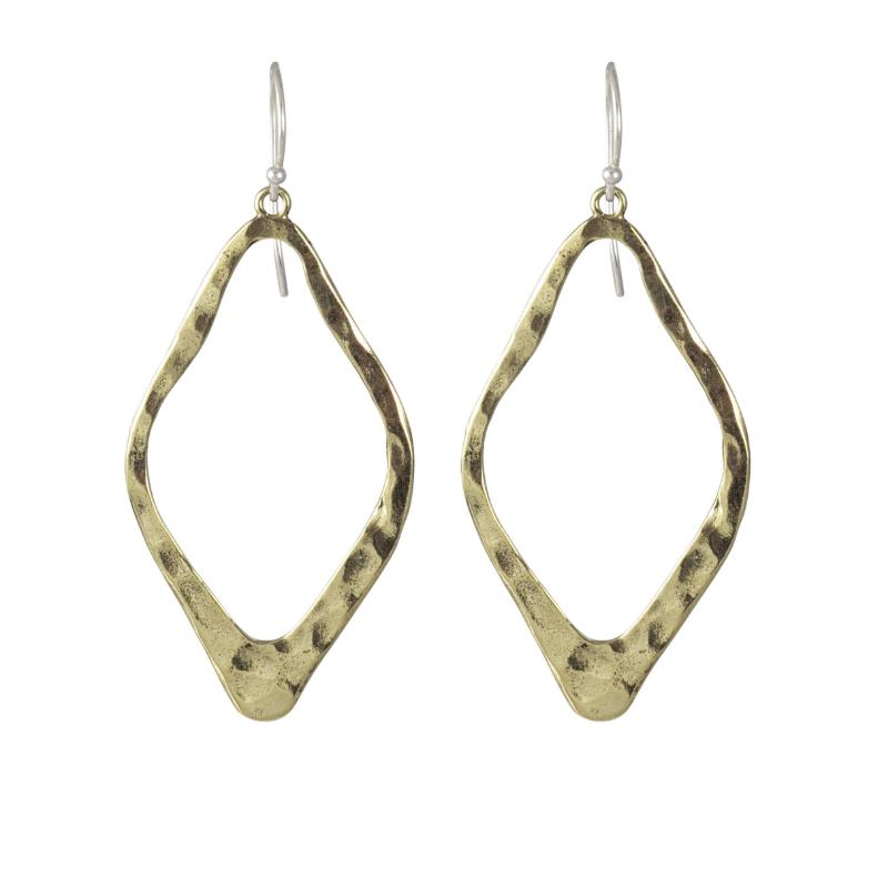 Waxing Poetic Brass Open Up Earrings