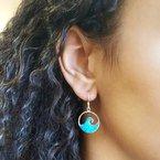 Arizona Turquoise and Inlaid Jewelry Ocean Wave Earrings