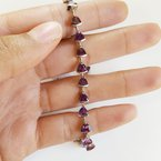 Arizona Amethyst™ Gold Jewelry Trillion Tennis Bracelet