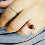 Arizona Anthill Garnet Gold Jewelry Vintage Inspired Garnet Ring