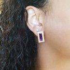 Arizona Amethyst™ Gold Jewelry Radiant Bar Earrings