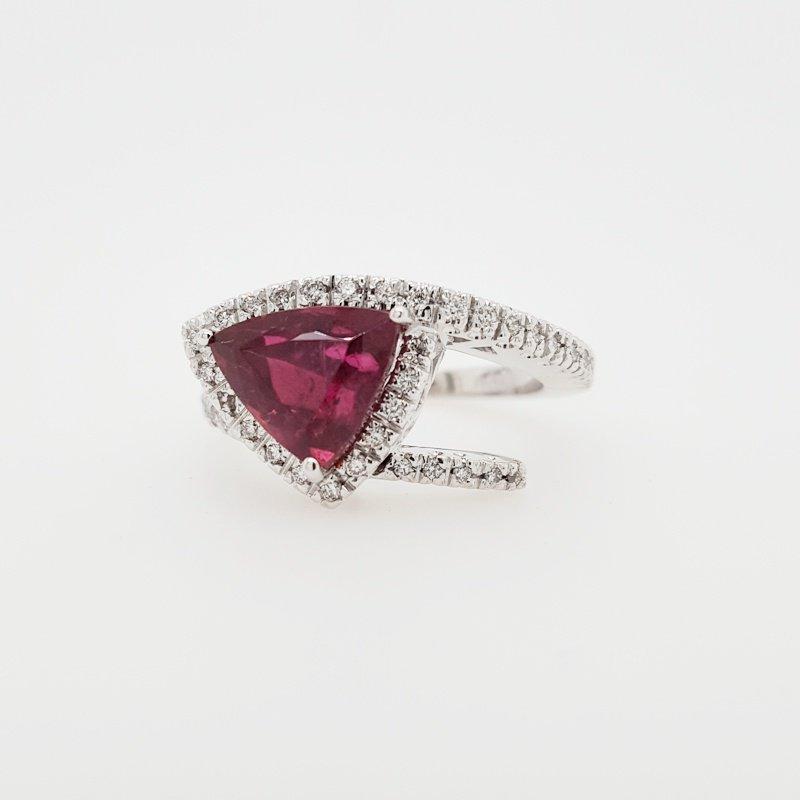Luxury by Rene Hernandez Modern Rubellite Ring
