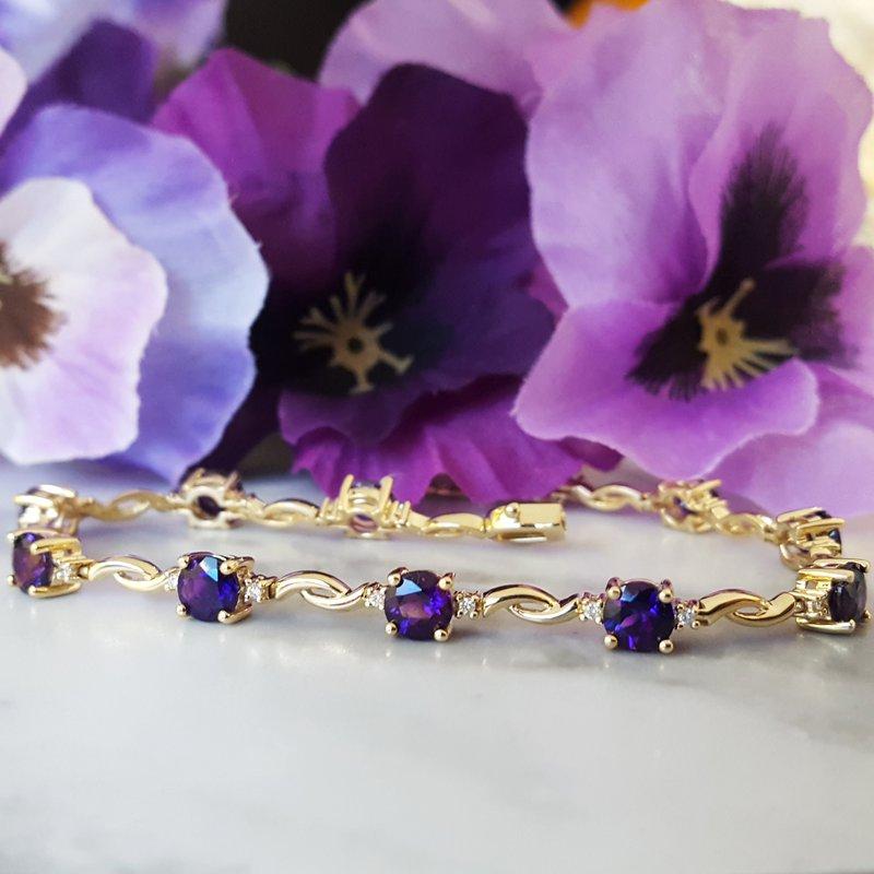 Arizona Amethyst™ Gold Jewelry Delicate Amethyst Tennis Bracelet