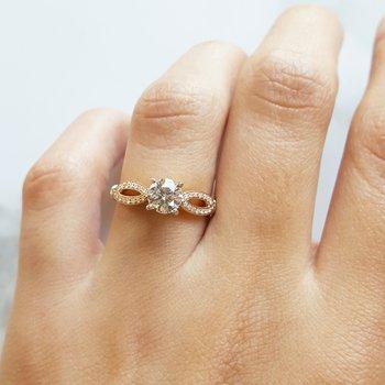 Infinity Loop Engagement Ring