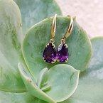 Arizona Amethyst™ Gold Jewelry Pear Drop Earrings
