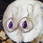 Arizona Amethyst™ Gold Jewelry Dimensional Dangle Earrings