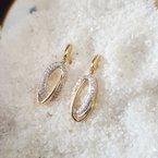 Sami Fine Jewelry Offset Oval Loop Earrings