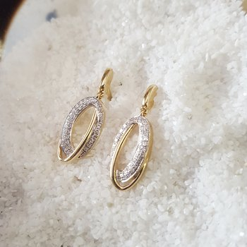 Offset Oval Loop Earrings
