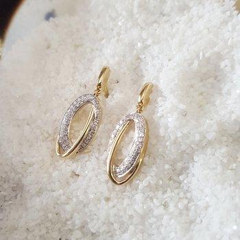 Offset Oval Loop Earrings