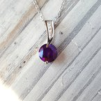 Arizona Amethyst™ Gold Jewelry Curved Classic Pendant