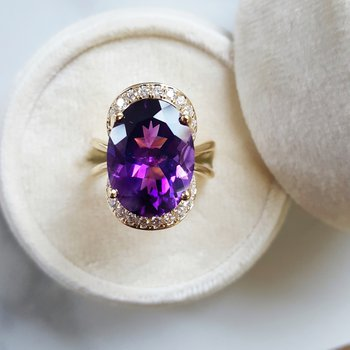Rare Arizona Amethyst Flower Bloom Ring