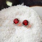Sami Fine Jewelry Ruby Halo Studs