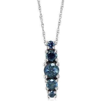 Montana Sapphire Graduated Necklace
