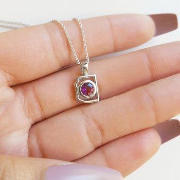 Mini AZ State Necklace